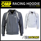 SALE! OR5903 OMP RACING SPIRIT HOODIE ZULL ZIP SWEATSHIRT GREY or WHITE