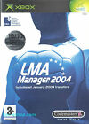 LMA Manager 2004 Microsoft Xbox Game
