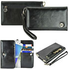 Smart Cell Phone Luxury Purse Wallet Bag Wrist Strap Clutch Case Cover