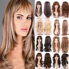 Women Long Hairstyle Full Wigs Dark Brown Blonde Highlight Hair Real as Remy VN5