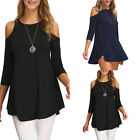 Women Ladies Long Sleeve Loose T Shirt Blouse Top New Casual Tee Tops Black/Navy