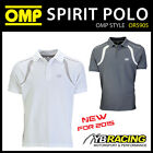 SALE! OR5905 OMP RACING SPIRIT POLO SHIRT COTTON FABRIC in WHITE or GREY S-XXL