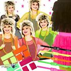Ladies Womens 1980s 80s Eighties Neon Dance Hen Fancy Dress Outfit Accessory Lot