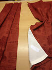 B/N Static Caravan Curtains ,Stunning Terracotta heavy cotton damask,,25Wx48L