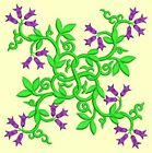 Anemone Quilt Squares #6 Singles-DESIGN 1-Machine Embroidery Design in 4 sizes