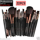 22pcs Kabuki Make Up Brushes Cosmetic Eye Shadow Powder Foundation Brush Set Kit