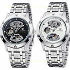 OUYAWEI Mens Military Army Stainless Steel Self-wind Automatic Mechanical Watch