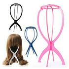 1x New Folding Plastic Stable Durable Wig Hair Hat Cap Holder Stand Display Tool