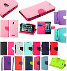 For Alcatel OneTouch Allura Leather 2 Tone Wallet Pouch Flip Case Phone Cover