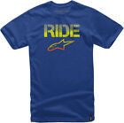 Alpinestars 2017 Ride Splatter Short Sleeve T-Shirt Royal Blue Mens All Sizes