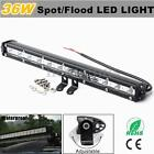 13 Inch 36W White LED Flood Spot Lamp Driving Offroad Work Light Bar Strip IP 67