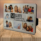 Personalised MUM Sentiment WOOD PHOTO PANEL PRINT KEEPSAKE Mothers Day GIFT IDEA