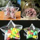 New Clear Plastic Fillable Heart Ball Bauble Candy Box Xmas Ornament Decor US