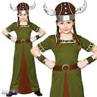 Girls Nordic Viking Princess Saxon Warrior Historical Fancy Dress Outfit Helmet
