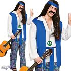 Men Adults Sixties 60s Groovy Hippy Hippie Woodstock Fancy Dress Costume Outfit