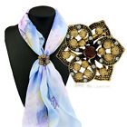 1 Piece New Fashion Girl Flowers Tricyclic Scarves Buckle Jewelry Brooch Pin