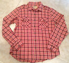 True Religion Shirt Long Sleeve Plaid flannel Men's Canyon Red Size S  XL NEW