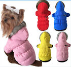 Winter Warm Pet Dog Cat  Clothes Apparel Hoodie Wind Coat Cotton Costumes Good