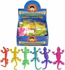 STRETCHY LIZARDS PARTY BAG FILLER LOOT BAGS COLORFUL FUN BOYS GIRLS POCKET MONEY