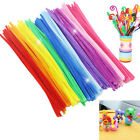 100pcs Chenille Stems Pipe Cleaners Kids Craft Educational Toys Twist Rods tk