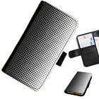 AZT04 DOTS PRINTED LEATHER WALLET/FLIP PHONE CASE COVER FOR ALL MODELS
