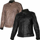 Tuzo Speed 4 Vintage Cafe Racer Biker Leather Motorcycle Jacket Black or Brown