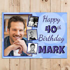 Personalised 18th 21st 30th 40th 50th Happy Birthday PHOTO Poster Banner N92