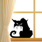 Halloween Terror Black Cat Window Wall Stickers Home Decor Room Mural Art Use MO