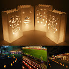 20x Snowman Stocking Paper Tea Light Candle Lantern Bags Party Garden Xmas