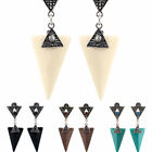 1 Pair Beauty Ladies Inverted Triangle Jewelry Clip-On Dangle Party Earrings