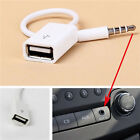 New 3.5mm Male AUX Audio Plug Jack to USB2.0 Female Converter Car MP3 Cable Lot