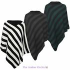 Ladies Womens Knitted Winter Poncho Shawl Wrap Cape One Size Fits All