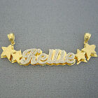 10K Gold Personalized 3D Double Plate Name Pendant Necklace Jewelry ND42