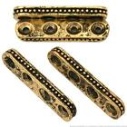 4 Hole Spacer Bali Beads Antique Gold Plt 31mm Approx 4