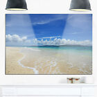 Gorgeous Beach in summertime - Modern Seascape Glossy Metal Wall Art