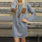 New Autumn Fashion Women Vintage Casual Dress Loose Long Sleeve Party Dress