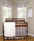 Trend Lab White Pique Baby Nursery Crib Bedding CHOOSE FROM 3 4 5 Piece Set