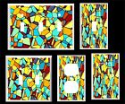 ABSTRACT STAINED GLASS INSPIRED  LIGHT SWITCH COVER PLATE