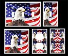 AMERICAN FLAG BALD EAGLE PATRIOTIC  LIGHT SWITCH COVER PLATE