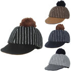 Felt Hat Cute Adjustable Woolen Ball Cap Baseball Stripe Kids Autumn AB