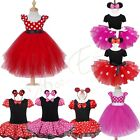 Toddler Baby Girls Minnie Mouse Party Tutu Dress Costume Polka Dots Tulle Skirt