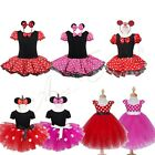 Girls Kids Halloween Minnie Mouse Dress Party Costume Cosplay Ballet Tutu Skirt