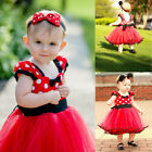 Baby Toddler Girls Tutu Dres Minnie Mouse Christmas Outfit Costume Fancy Dresses