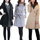 Winter Women Thicken Warm Woolen Trench Coat Parka Overcoat Long Jacket Outwear