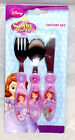 Disney Sofia The First 3 Piece Stainless Steel Cutlery Set 12Mths  +  New