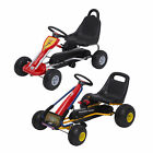 Deluxe Kids Ride Pedal Go Kart Gokart Adjustable Seats Karting Hand Brake 2 Size
