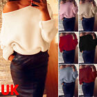 Womens Long Sleeve Knitted Oversize Baggy Sweater Ladies Loose Jumper Tops Coat