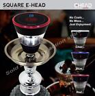 Authentic Square Electronic E Head Hookah Chicha Bowl (Black, Blue & Red) New