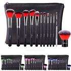 12pcs Professional Cosmetic Eyebrow Shadow Makeup Cosmetic Brush Set Pouch Case