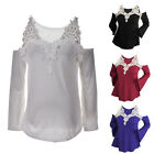 New Fashion Women Long Sleeve Shirt Casual Lace Blouse Loose Tops T-Shirt TB
